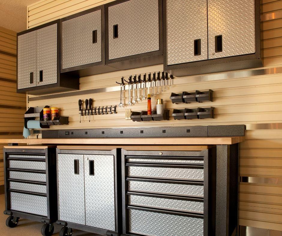Garage renovation interior